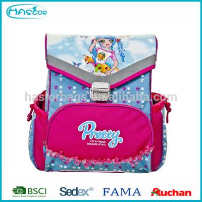 2016 New design fashion 3D school backpack for girls