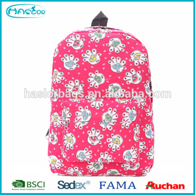 Haslor Hotselling Fashion Polyester Casual School Backpack For Girls