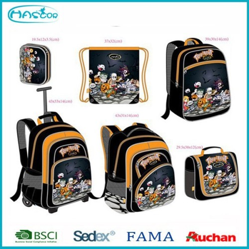 Colorful OEM wholesale wheeled school backpack