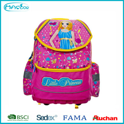 2015new design fashion 3D hard-shell school bag for girls