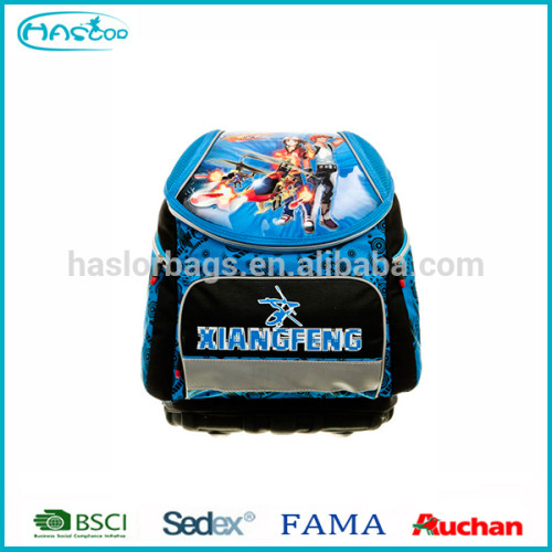 2016 new design good quality 3D school bag for boys