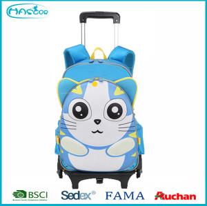 Factory New Design Cartoon Kids Trolley School Bag