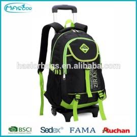 Nouveaux produits sac à dos à roulettes école, Top qualité chariot sacs d'école