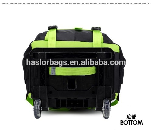 New products wheeled school backpack, top quality trolley school bags