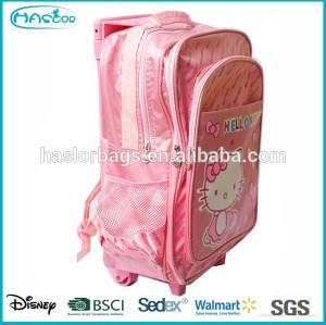 Wholesale barbie kids trolley school bags