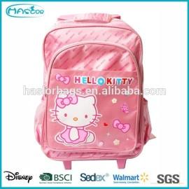 2014 vente chaude bande dessinée bonjour kitty trolley sacs d'école pour filles