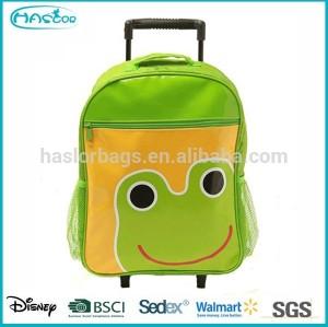 Kids Korean Popular Cute Cartoon Trolley School Bags,School bags with wheels