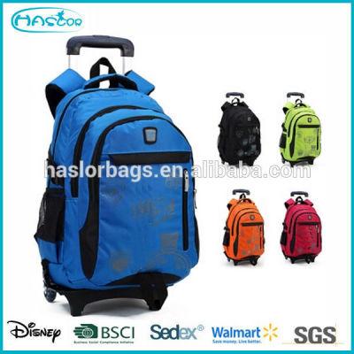 Boy wheeled school backpack for school