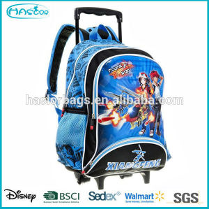 Fashion kids trolley school backpack, trolley bag