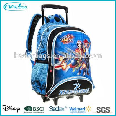 Fashion kids trolley school backpack, trolley bag