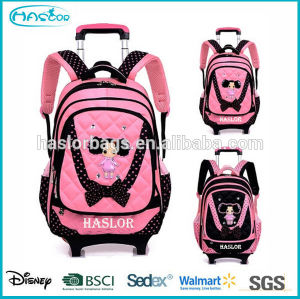 2015 Lovely Girl Cartoon Trolley School Backpack