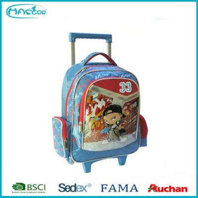 Hot style youth backpack with wheels