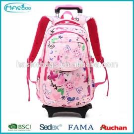 2015 New Style enfants Trolley sac d'école avec des roues pour les filles