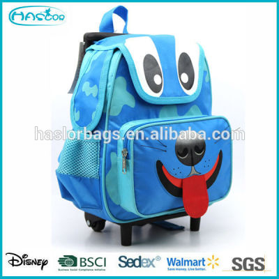 Wholesale animal shape kids school trolley bag