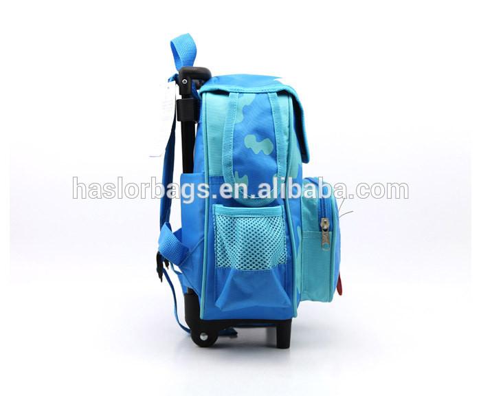Wholesale animal shape kids school trolley bag
