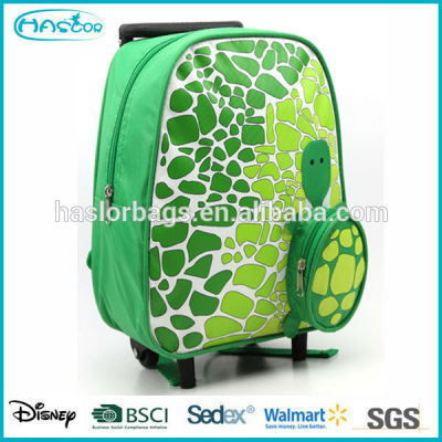 Animal tortoise trolley kids school bag with wheels