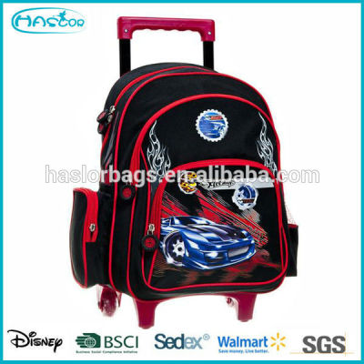 Cheap kids trolley wheeled school backpack