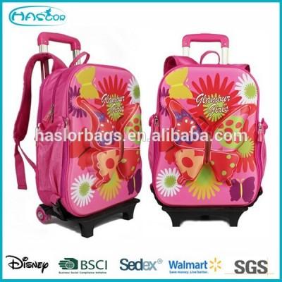 Butterfly Pattern Trolley Backpack for School