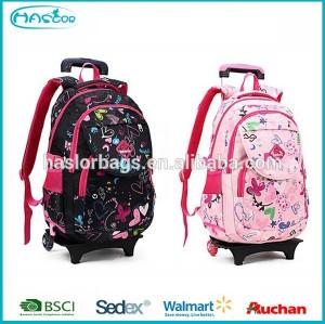 School wheeled bag trolley for backpack