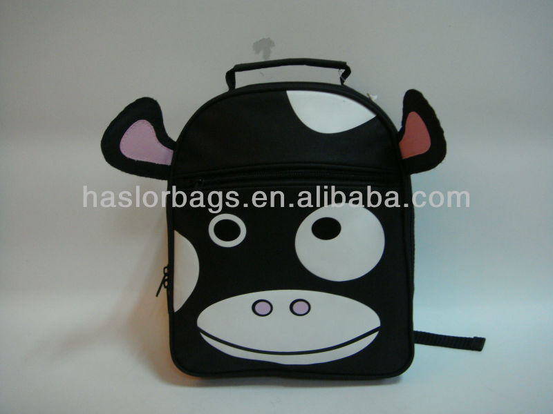 Black Color Dairy Cow Hot Backpack
