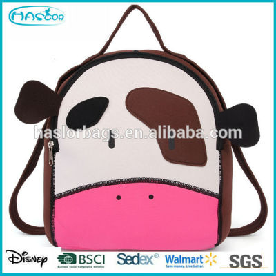Lovely animal style kids school bag set with high quality