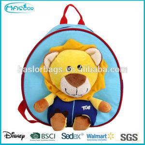 2015 Newest design adorable cartoon pattern lion backpack for kids