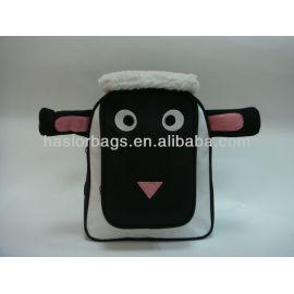 Noir couleur Animal mignon en forme noir enfants sac