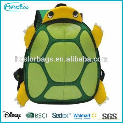 2015 Cute animal shape turtle backpack school for kids