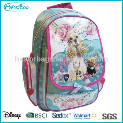 2014 New Design Wholesale Fashion Kids School bag Dog Backpack for Children