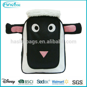 3D Effect Sheep Shape Bags, Kids Cute Plush Zoo Animal Backpack For School