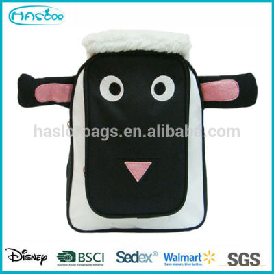 3D Effect Sheep Shape Bags, Kids Cute Plush Zoo Animal Backpack For School