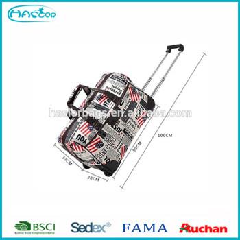 Grande taille chariot sac de voyage / sac de voyage de chariot avec roues
