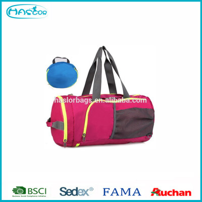 Foldable bags sport for gym/ trolley sport bags