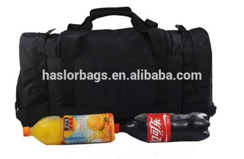 2015 Gym Polyester Sports Bag With Side Pockets For Shoes