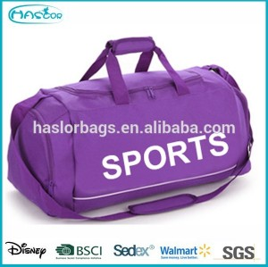 New Novel duffle gym bag shoe compartment, duffle bags travel