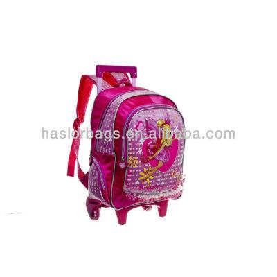 2016 wheeled cute polyester Chilren Trolley School Bag