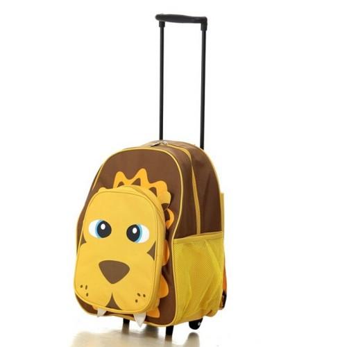 Fashion kids school bags with trolley