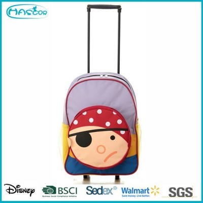 Children detachable trolley school bag with wheels light