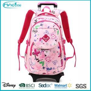 New arrival school backpack on wheels