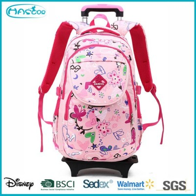New arrival school backpack on wheels