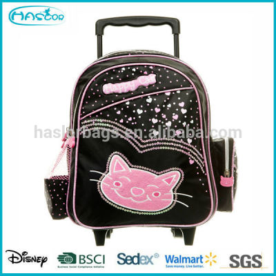 Removable Trolley School Bag with High Quality For Girl