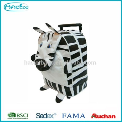 Kids Hot Sale Polyester Cute Cartoon School Bag,Wheeled Trolley School Backpack