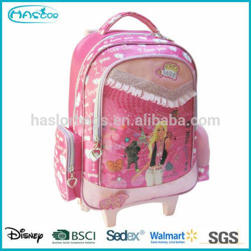 Hot Sell Cute Cartoon Printing Fashion Lightweight Kids Trolley School Bag