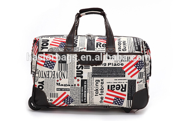 Travel bag designer oxford duffle trolley bag