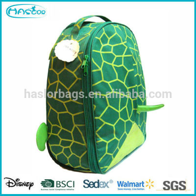 Kids hotselling Cute Mini turtle outdoor backpack,travel Backpack with trolley