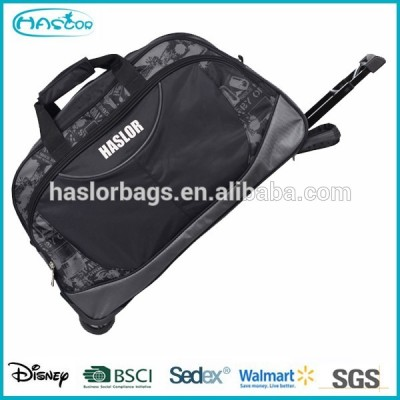 2015 new design high fashion travel bag with trolley