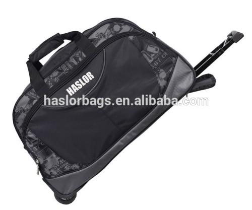 2015 new design high fashion travel bag with trolley