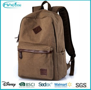 China factory durable popular canvas backpack bag with low price