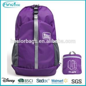 Lightweight nylon waterproof foldable backpack