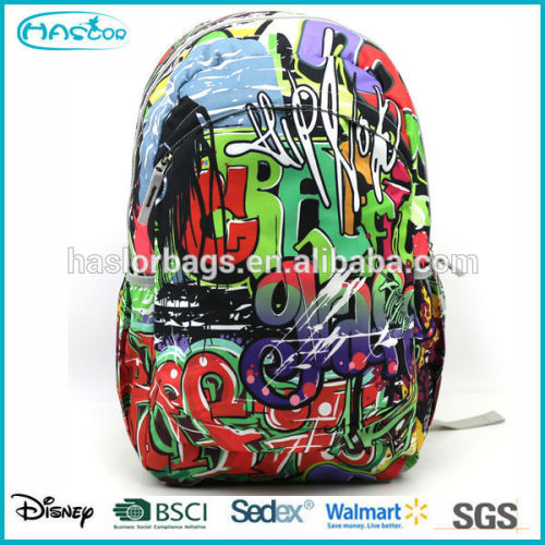 2015 wholesale cool design colorful fashion basketball backpack for high school